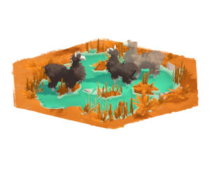 SteamのゲームタイトルAs For As The EyeのBog Hexagonの画像