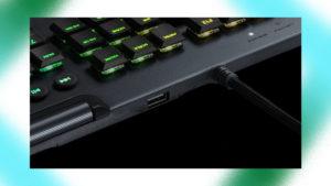 ロジクールのゲーミングキーボードのパススルーの画像