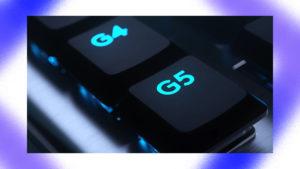ロジクールのゲーミングキーボードのGキーの画像
