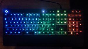 ロジクールゲーミングキーボードG213のLightsuncRGB