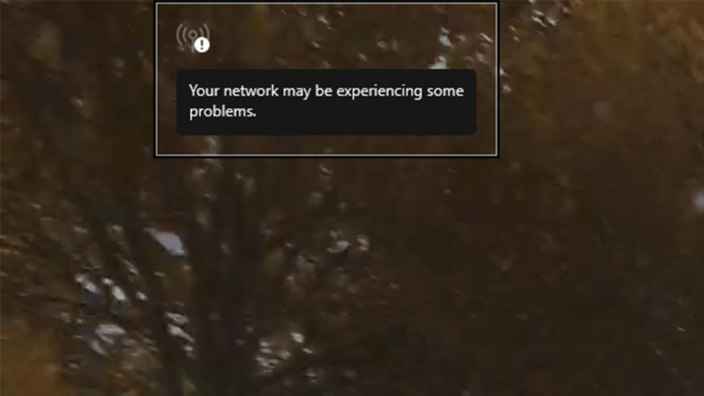 Xbox cloud gamingの通信不良による表示の画像