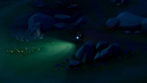 ロンリーマウンテンダウンヒルの夜間トレイルの画像