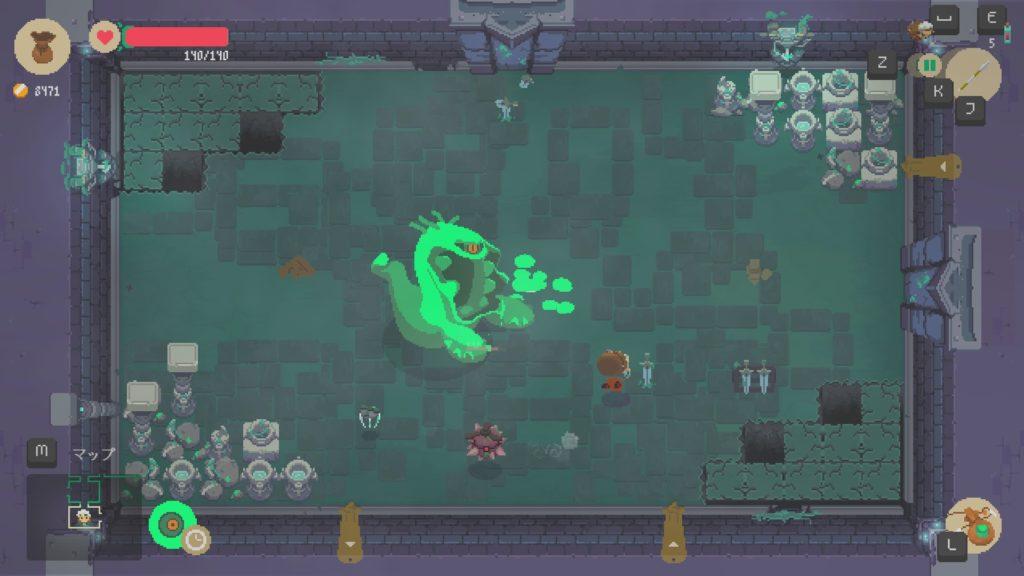 moonlighterの緑のモンスターの画像