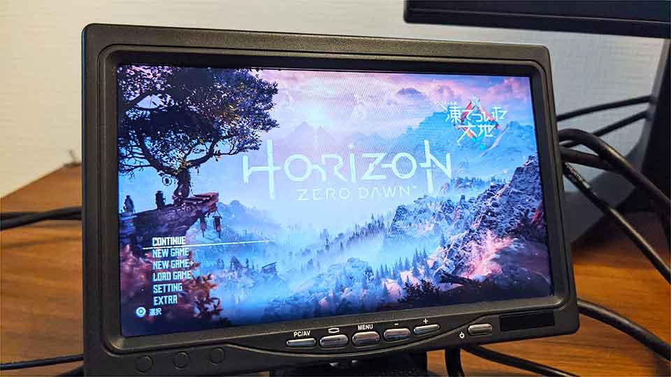 smrazaの7インチIPSモニターのゲームプレイ画像