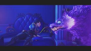 Trine4:The Nightmare Princeのセリウス王子の現実となった悪夢の狼と対峙する画像