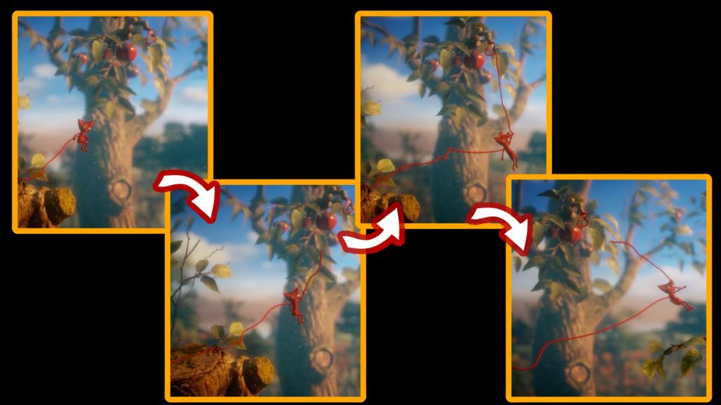 unravelのスパイダーマン移動アクションの画像